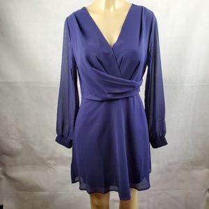 🔴SALE🔴 One Clothing Blue Long Sleeve V Neck M
